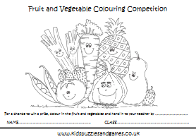 Fruit and Vegetable - Kids Puzzles and Games