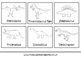 dinosaur coloring pages with names - photo#2