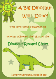 Dinosaur reward chart
