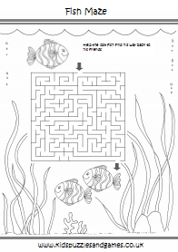 Under The Sea Kids Puzzles And Games