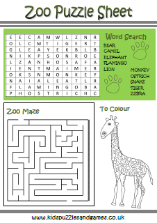 Zoo Kids Puzzles and Games