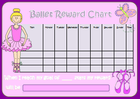 Ballet Reward Chart - Kids Puzzles and Games