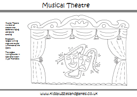 musical theatre colouring page