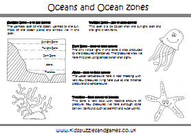 Oceans And Continents Colouring Sheets Kids Puzzles And