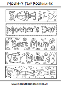 Critical image in mother's day bookmarks printable free