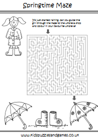 Spring Kids Puzzles And Games