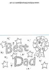 coloring pages fathers day certificates | Father's Day - Kids Puzzles and Games