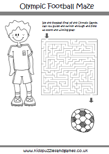 Olympic Mazes Kids Puzzles And Games