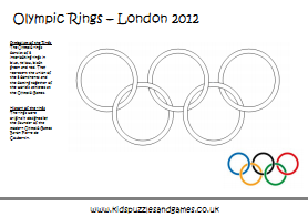 olympic rings coloring sheet - Colouring In Games