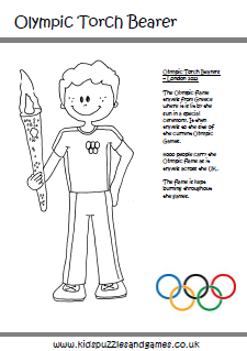 Olympics Colouring Sheets Kids