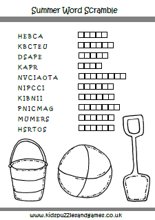 Rare image within summer crossword puzzles printable