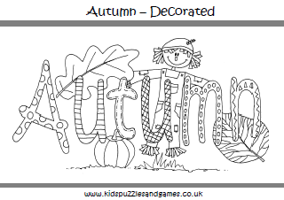 autumn fall kids puzzles and games