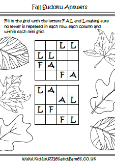 Autumn Fall Kids Puzzles and