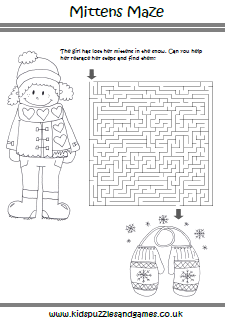 Winter Mazes - Kids Puzzles and Games
