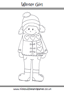 Winter Colouring Sheets Kids