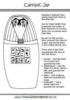graphic relating to Ancient Egypt Printable Worksheets called Historical Egypt - Children Puzzles and Video games