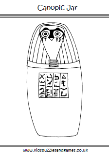 Ancient Egypt Colouring Sheets