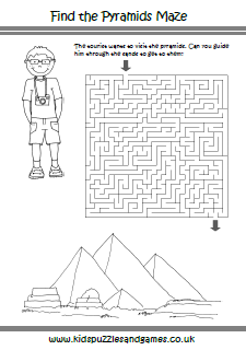 Worksheet Ancient Egypt Worksheets ancient egypt kids puzzles and games pyramids maze