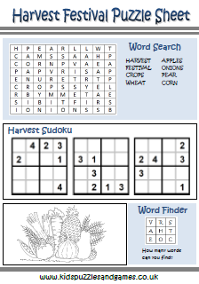 Fall Wordsearch, Vocabulary, Crossword, and More