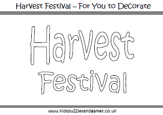 harvest festival colouring sheets - Harvest Coloring Pages Printables