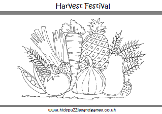 harvest festival colouring sheets