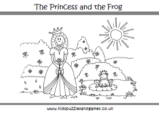 the princess and the frog coloring page