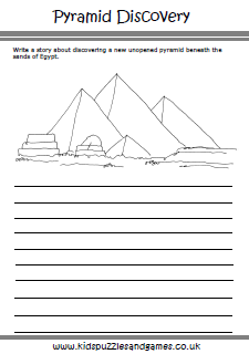 image about Ancient Egypt Printable Worksheets called Historical Egypt - Young children Puzzles and Game titles