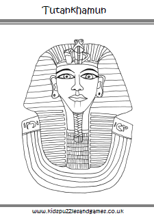 Tutankhamun Colouring Page  Kids Puzzles and Games