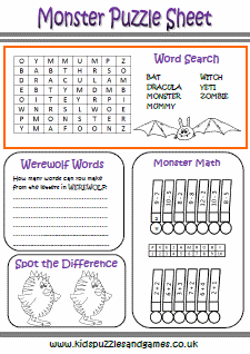 puzzle sheet - Childrens Printable Puzzles