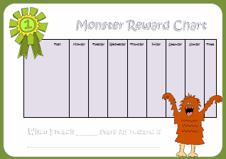 Printables - Reward Chart - Kids Puzzles and Games