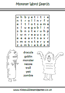 Monsters Kids Puzzles and Games