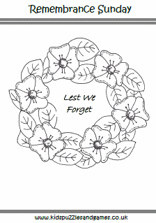 Remembrance Sunday Kids Puzzles