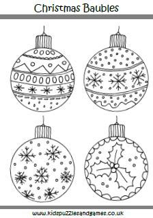 coloring pages christmas baubles - photo#11