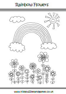 rainbow coloring pages 10 rows - photo#21