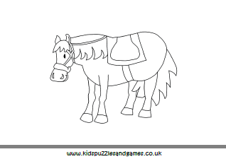 Horses - Kids Puzzles and Games