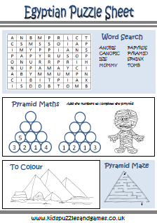 Worksheets Ancient Egypt Worksheets ancient egypt kids puzzles and games puzzle sheets