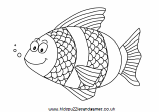 Fish Colouring Sheets - Kids Puzzles and Games
