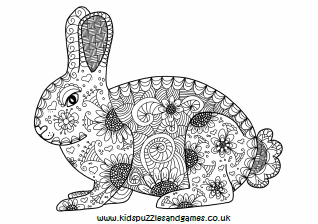 rabbit adult colouring kids puzzles and games