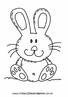 Rabbit Large Cute Colouring Kids Puzzles And Games