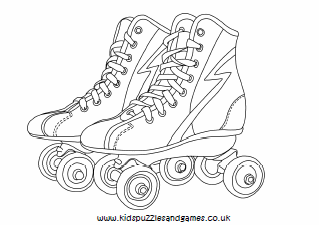 This is an image of Candid Roller Skating Coloring Pages
