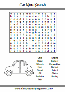 Puzzle Sheets - Word Search - Kids Puzzles and Games
