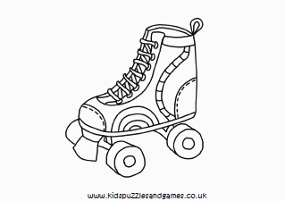 This is an image of Exceptional Roller Skating Coloring Pages