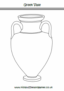 Ancient Greek Vase Colouring Page Kids Puzzles And Games