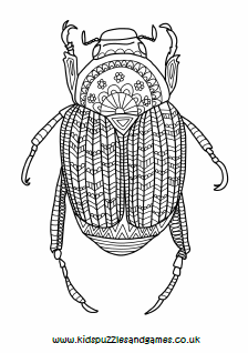 Beetle Mindfulness Colouring Page Kids Puzzles And Games