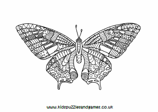 Butterfly Mindfulness Colouring