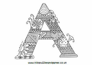 a mindful colouring sheet