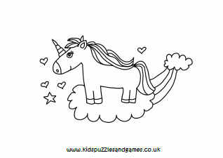 Unicorns And Rainbows Colouring Sheets Kids Puzzles And Games
