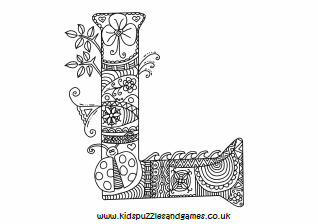 l mindful colouring sheet