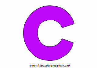 picture relating to Letter C Printable identified as Letter C Printables - Little ones Puzzles and Video games