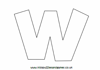 Letter W Colouring Sheets Kids Puzzles And Games